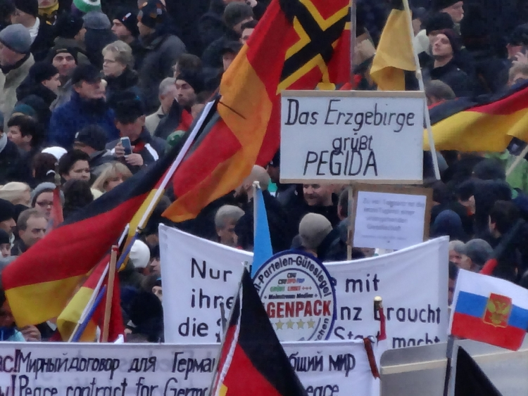 Pegida-Demonstration am 25. Januar 2015